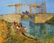 Vincent Van Gogh : The Langlois Bridge at Arles with Women Washing